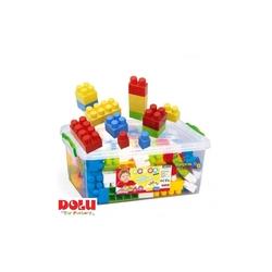Dolu Büyük Renkli Bloklar SandıklI Özel Kilitli 130 Parça - Thumbnail