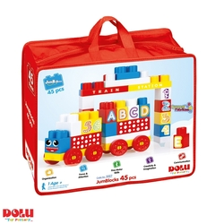 Dolu Oyuncak Fabrikasi - Dolu Eğitici Çantalı Mega Bultak Bloklar 45 Parça