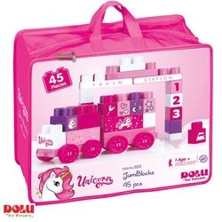 Dolu Oyuncak Fabrikasi - Dolu Eğitici Unicorn Çantalı Mega Bloklar 45'li
