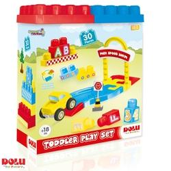 Dolu Oyuncak Fabrikasi - Dolu Oyuncak Araba Yol Ve Blok Seti 30 Parça