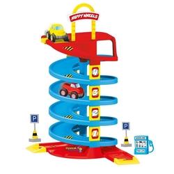 Dolu Oyuncak Büyük Garaj Seti 5 Katlı Spiral Yol 38 Parça 60 Cm - Thumbnail
