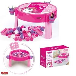 Dolu Oyuncak Fabrikasi - Dolu Oyuncak Unicorn 100 Parça Mega Bloklu Aktivite Masası Dolu-2572