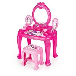 Dolu Oyuncak Fabrikasi - Dolu Oyuncak Unicorn Ayaklı Makyaj Seti ve Sandalye Seti