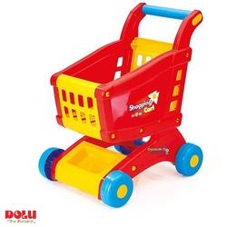 Dolu Renkli Oyuncak Market Arabası - Thumbnail