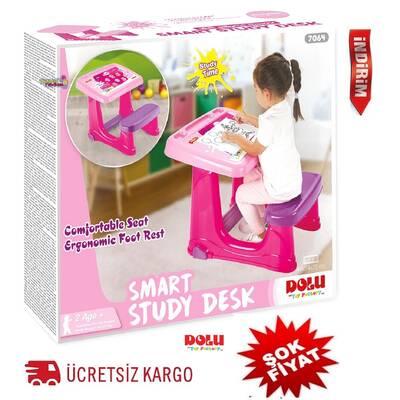 Dolu Smart Ders Çalışma Masası-Pembe