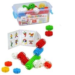 Efe Toys - Efe Toys Eğitici 48 Parça Çarklı Puzzle Circle Puzzle Plastik Kutuda
