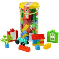 Efe Toys - Efe Toys Eğitici Bloklar 82 Parça Silindir Kutuda