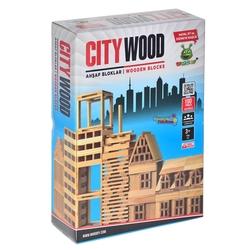 Woodoy-Karsan Ahşap - Eğitici Ahşap Bloklar Woodoy City Wood 100 Parça