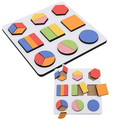 Eğitici Ahşap Montessori Geometrik Şekiller