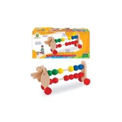 Woodoy-Karsan Ahşap - Eğitici Ahşap Oyuncak Abaküs Köpek Fiğürlü