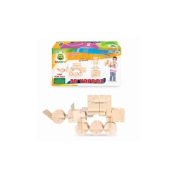 Woodoy-Karsan Ahşap - Eğitici Ahşap Oyuncaklar 3 D Yapboz Oyunu