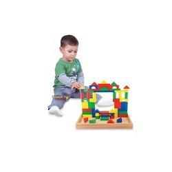 Woodoy-Karsan Ahşap - Eğitici Ahşap Oyuncaklar 54 Parça Büyük Bloklar