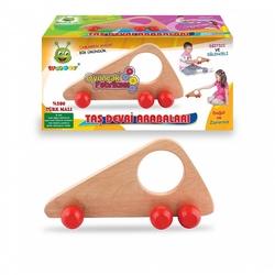 Woodoy-Karsan Ahşap - Eğitici Ahşap Oyuncaklar Taş Devri Arabaları
