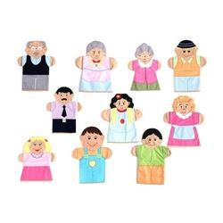 Anadolu Toys - Eğitici Aile Kukla Seti 10 Parça Kumaş