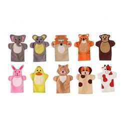 Anadolu Toys - Eğitici Hayvanlar Kukla Seti 10 Parça Kumaş