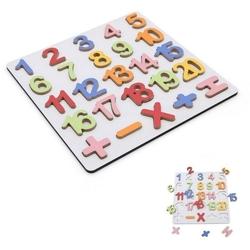 Hamaha Oyuncak - Eğitici Oyuncak Ahşap Kabartmalı Sayılar