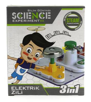 Eğlenceli Deney Setim Elektrik Zili 3 in 1