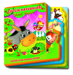 MEGA - Eva Puzzle Kitap-Çiftlik Hayvanları Nasıl Yaşar