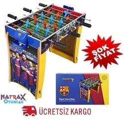 Matrax OyuncakFabrikasi - FC Barcelona Ahşap Ayaklı Masa Maçı Langırt Oyunu 3 Kollu