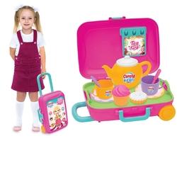 Dede Toys - Fen Toys Candy Ken Oyuncak Çay Seti Bavulum 12 Parça