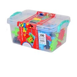 Matrax OyuncakFabrikasi - Flexy Tangles 100 Parça Plastik Kutuda