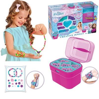 Frozen Oyuncak Boncuk Takı Tasarlama Atölyesi Sepetli