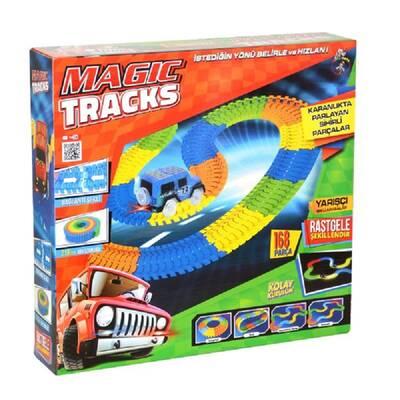 Gepettoys Magic Tracks Yarışçı Araba Işıklı 168 Parça