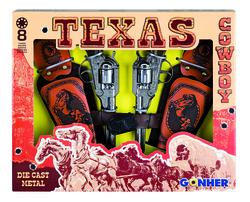 GONHER - Gonher 8'li Revolver Metal Koleksiyon Tabanca 2'li Kovboy Seti