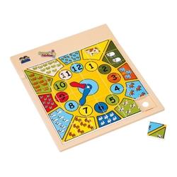 Güçlü Toys - Güçlü Eğitici Resimli Puzzle Saat 37 Parça