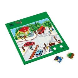Güçlü Toys - Güçlü Eğitici Resimli Puzzle Trafik 37 Parça
