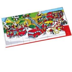 Güçlü Toys - Güçlü Oyuncak 3266 Plastik Eğitici Puzzle İtfaiye 67 Parça