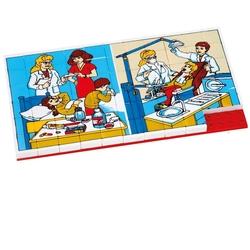 Güçlü Toys - Güçlü Oyuncak Plastik Eğitici Puzzle Hastane 67 Parça
