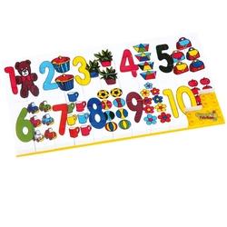 Güçlü Toys - Güçlü Oyuncak Plastik Eğitici Puzzle İri Rakamlar 67 Parça