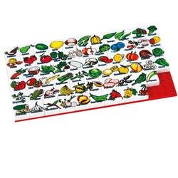Güçlü Toys - Güçlü Oyuncak Plastik Eğitici Puzzle Sebze Meyva 67 Parça
