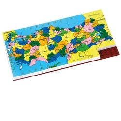 Güçlü Toys - Güçlü Oyuncak Plastik Eğitici Puzzle Türkiye Haritasi 67 Parça
