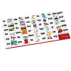 Güçlü Toys - Güçlü Oyuncak Plastik Puzzle Eğitici Heceler 67 Parça