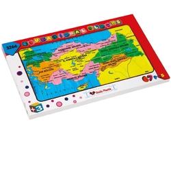 Güçlü Toys - Güçlü Toys Plastik Eğitici Puzzle Türkiye Haritasi ve Bölgeler 67 Parça
