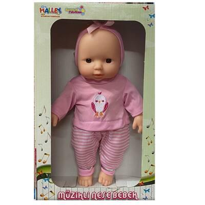 Halley Oyuncak Bebek Müzikli Tulumlu Neşe Bebek 30 Cm