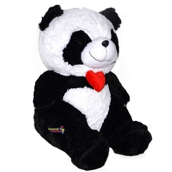 Halley Oyuncak - Halley Oyuncak Peluş Panda Kalpli Yumuşacık Sarılmalık 50 Cm