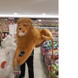 Halley Oyuncak - Halley Peluş Oyuncak Yatan Büyük Lion Aslan 110 Cm