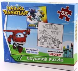 HARİKA KANATLAR - Harika Kanatlar Boyamalı Puzzle