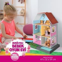 Arnas Toys - Hawking Oyuncak Bebek Evi Mobilyalı 59 cm