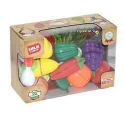Birlik Oyuncak - Hawking Oyuncak Meyve ve Sebze Kesme Seti 22 Parça