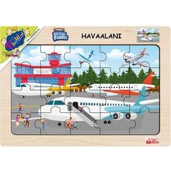 PlayWood-Onyıl - Hitit Playwood Eğitici Ahşap Puzzle Havalimanı 20 Parça