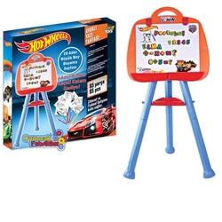 Furkan Toys - Hot Wheels Ayaklı Çocuk Yazı Tahtası 85 Parça Mıknatıslı Harfler Ve Rakamlar