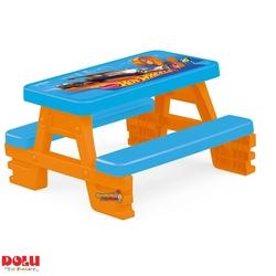 Dolu Oyuncak Fabrikasi - Hot wheels Çocuk Piknik Masası Dolu-2308