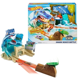 Hot Wheels - Hot Wheels Köpek balığı Kumsal Yarışı Oyun Seti Macera FNB21