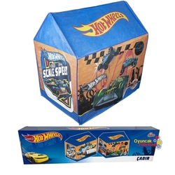 Hot Wheels - Hot Wheels Oyun Çadırı Ev Modeli Mavi 67x67x98 Cm