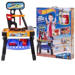 Furkan Toys - Hot wheels Pilli Matkaplı Oyuncak Tezgahlı Tamir Seti 30 Parça