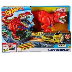 Hot Wheels - Hot Wheels T-rex Saldırısı Oyun Seti /HW Oyun ve Yarış Setleri GFH88